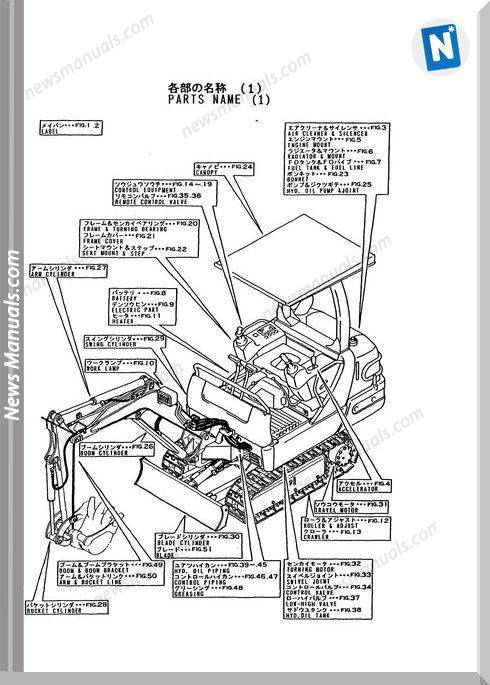 Yanmar Crawler Backhoe B17-2 For Ammann Parts Manuals