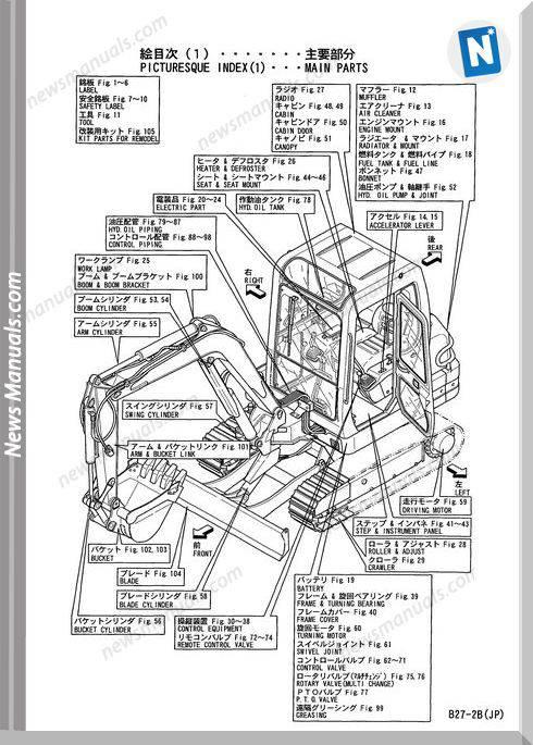Yanmar Crawler Backhoe B27-2B Parts Manual