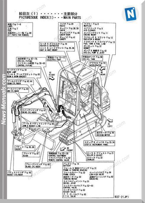 Yanmar Crawler Backhoe B37-2 Parts Manuals