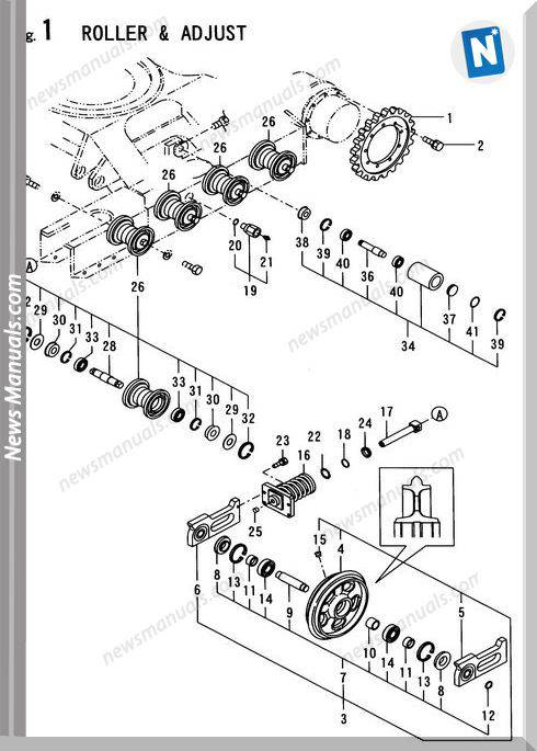 Yanmar Crawler Backhoe B37V-1 Parts Manuals