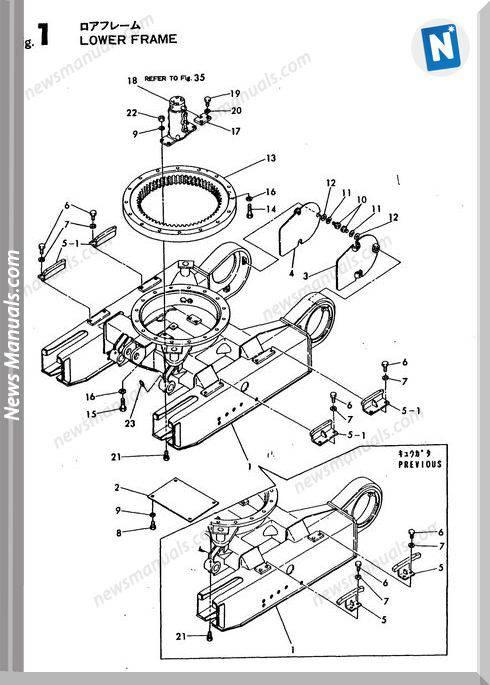 Yanmar Crawler Excavator Yb10-2 Parts Manuals