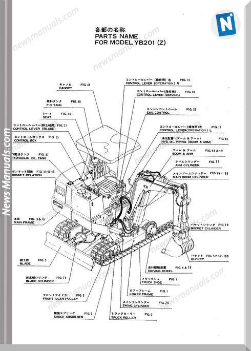Yanmar Crawler Excavator Yb201 Parts Manuals