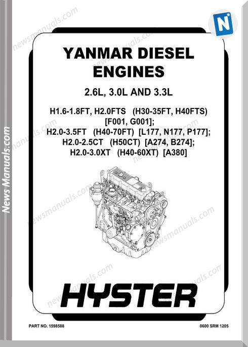 Yanmar Diesel Engines 2,6L 3,0L 3,3L Service Manuals