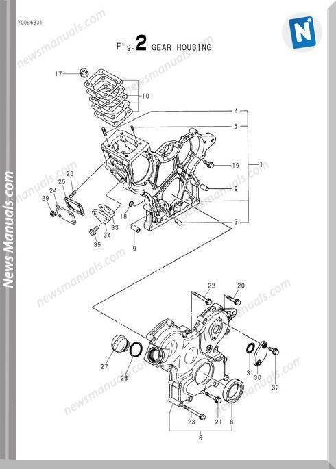 Yanmar Engine 3Tn66L-Euba Parts Catalog