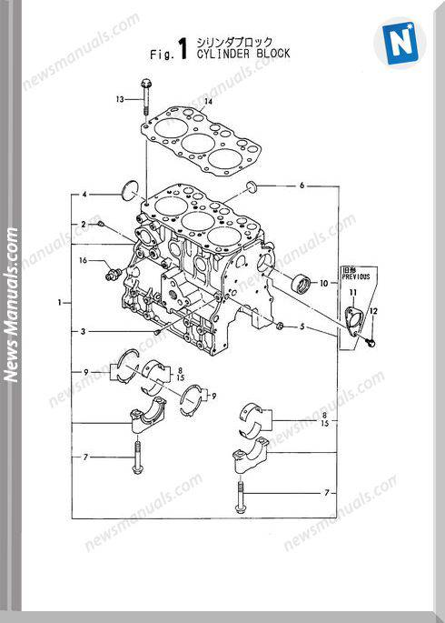 Yanmar Engine 3Tna72L-Uba Parts Catalog