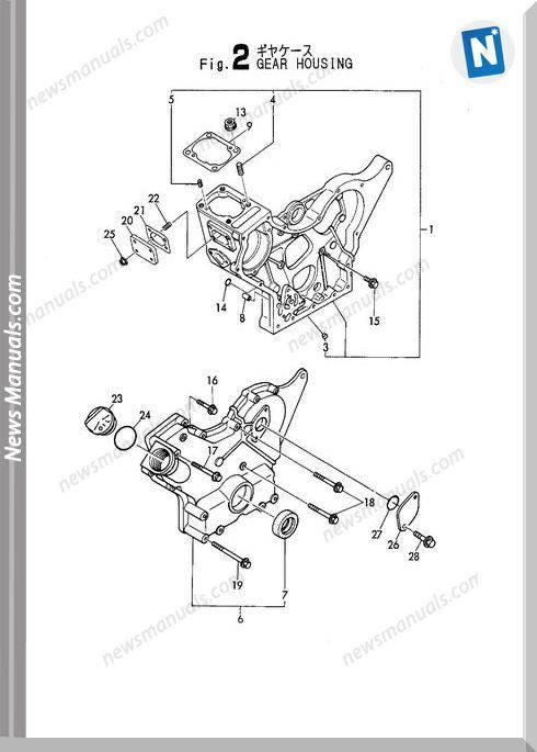 Yanmar Engine 3Tna72L-Uba Parts Catalog
