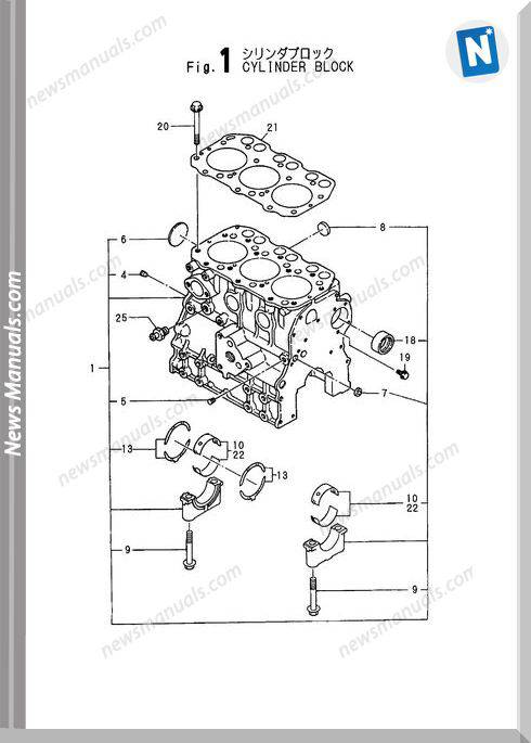 Yanmar Engine 3Tna72L-Uba,Ubb) Parts Catalog