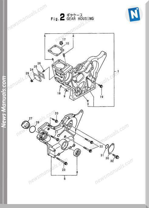 Yanmar Engine 3Tna72L-Uba,Ubb) Parts Catalog