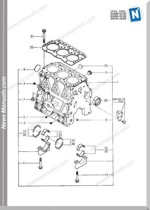 Yanmar Engine 3Tnc80L-Rb1(Sum30)Parts Catalog