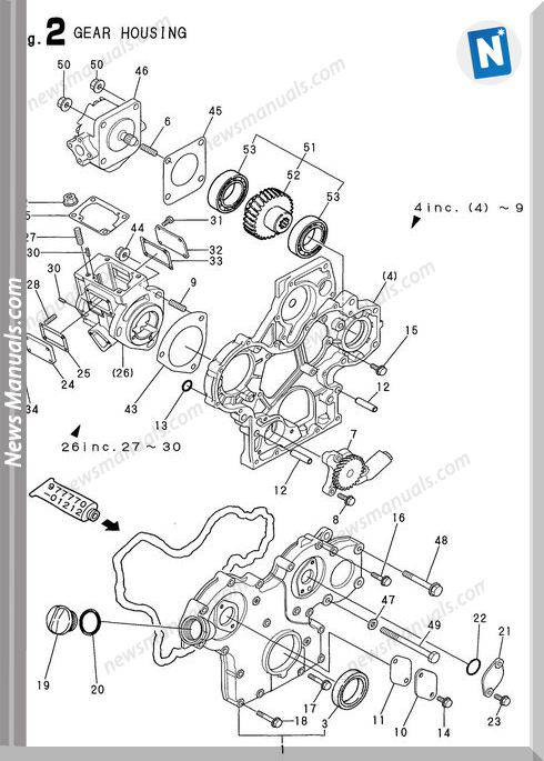 Yanmar Engine 3Tne68-Nbab(B15Ay)Parts Catalog