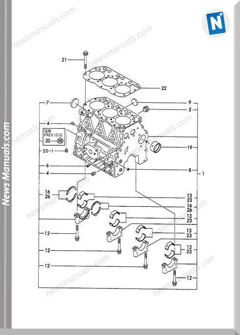 Yanmar Engine 3Tne78A-B1(B22-2B)Parts Catalog