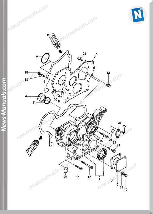 Yanmar Engine 3Tne82A-B1(B27-2B)Parts Catalog