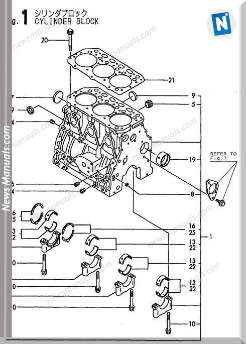 Yanmar Engine 3Tne88-(E)B1(B37-2B)Parts Catalog