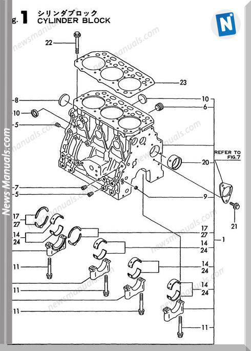 Yanmar Engine 3Tne88L-Rbv(Vio40)Parts Catalog