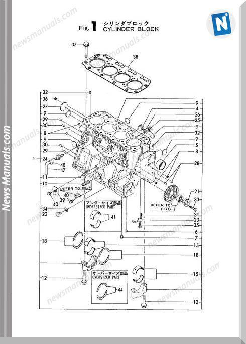 Yanmar Engine 4Tn100L-Rb(B7)Parts Catalog