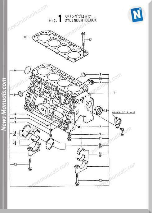 Yanmar Engine 4Tn84L-Rb,Fparts Catalog