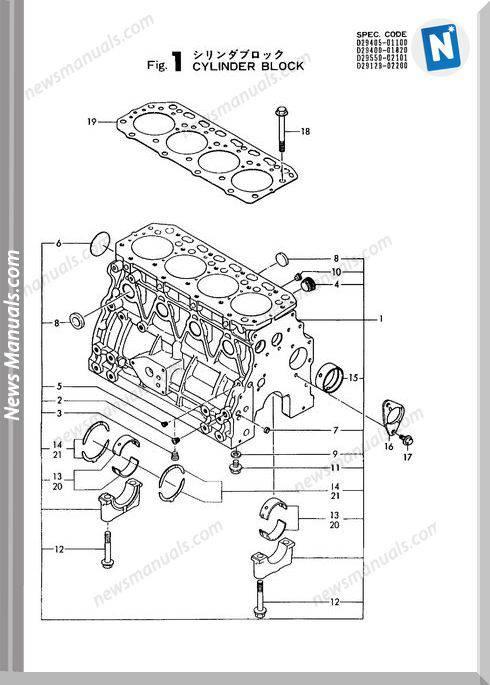 Yanmar Engine 4Tn84L-Rba(B50,-1)Parts Catalog