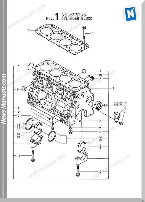 Yanmar Engine 4Tn84L-Rbb(B6)Parts Catalog