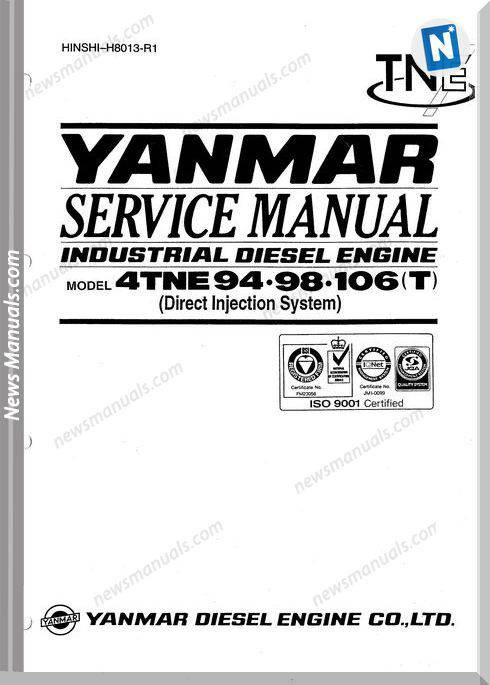 Yanmar Engine 4Tne 94 98 106T Service Manual