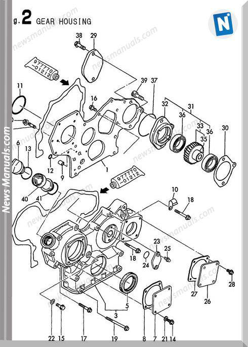 Yanmar Engine 4Tne84T-Bs(B50W-1)Parts Catalog