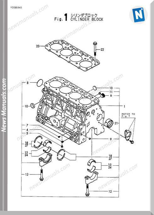 Yanmar Engine 4Tne88-(E)Bva(Vio50-1)Parts Catalog