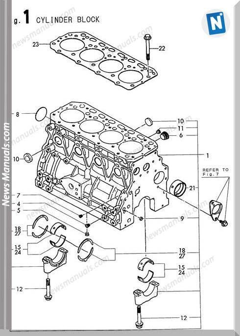 Yanmar Engine 4Tne88-Ebvc (S4140,60) Parts Catalog