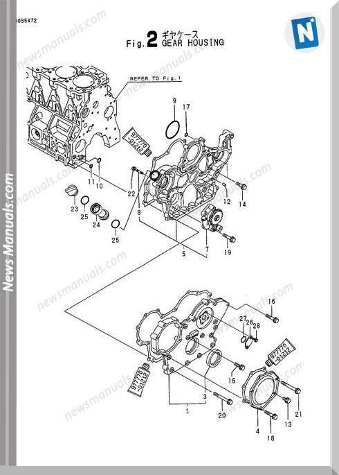 Yanmar Engine 4Tne98-Bv(Vio70)Parts Catalog
