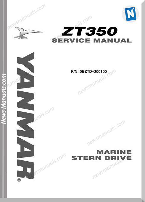 Yanmar Gearbox Zt350 Stern Drive Service Manual