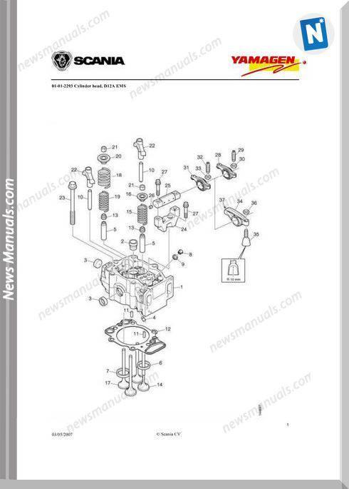 Yanmar Ys Dc12 Engine 400 Kva Wpy400 Parts Catalog