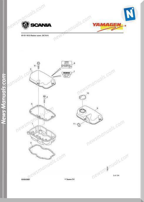 Yanmar Ys Dc16 Engine 500 Kva Wpy500 Parts Catalog