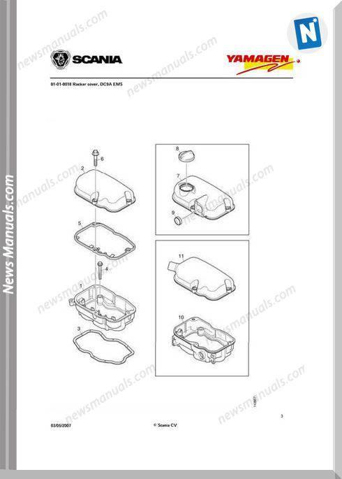 Yanmar Ys Dc9 Engine Parts Catalog 300 Kva 5Cyl