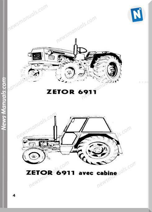 Zetor 4911 5911 5945 6911 6945 Utilisation Entretien