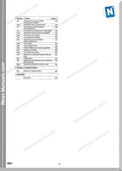 Zetor Forterra 100-110-120-130-140 (2013) Parts Manual