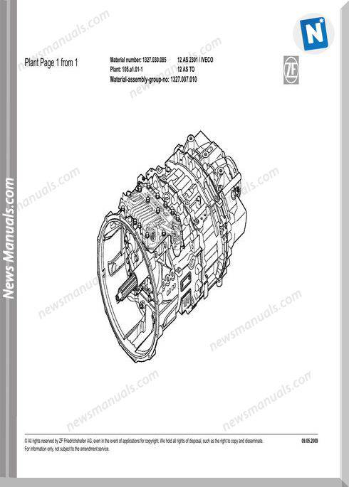 Zf 12As-2301 1327 030 085-2009 Spare Parts Catalog
