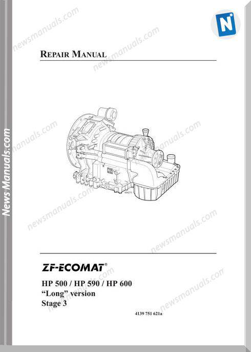 Zf 5Hp 6Hp Ecomat 500 590 600 Long Vers Repair Manual
