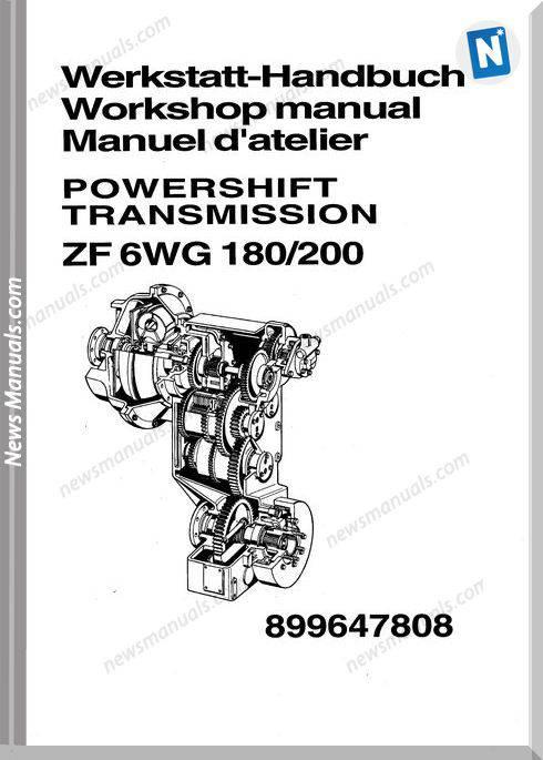 Zf 6Wg 180 200 Workshop Manuals