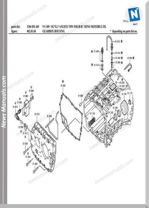Zf 9S109-1304 051 445-Hino Fm2P Spare Parts Catalog