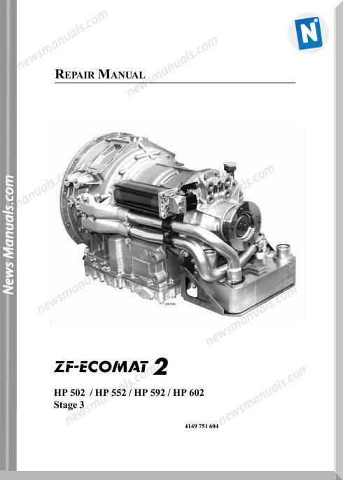 Zf Ecomat 2 Hp502,552,592,602 Repair Manual