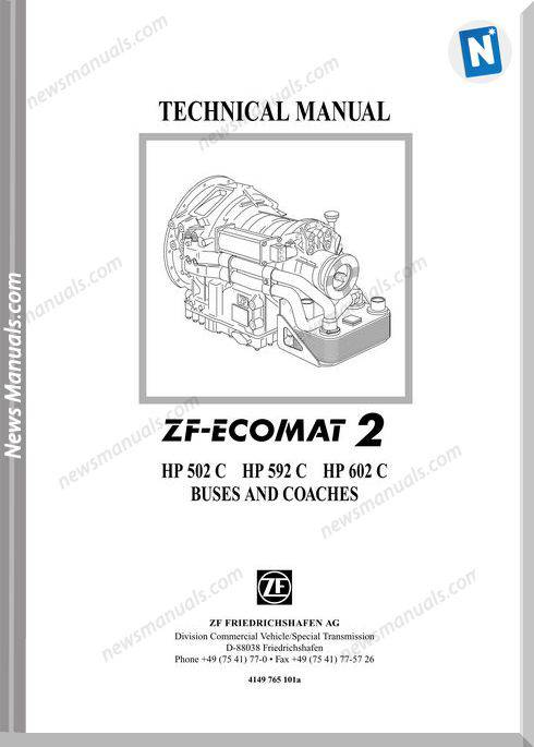 Zf-Ecomat 2 Hp502C,592C,602C Technical Manual