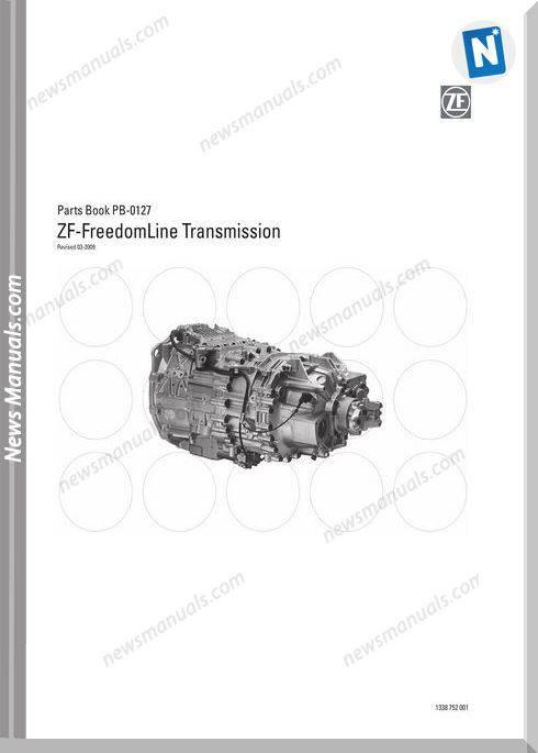 Zf-Freedomline Transmission Parts Manual (Pb0127 09)