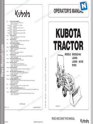 Kubota Tractor BX25DLB LA240 BT602 Workshop Manual • News