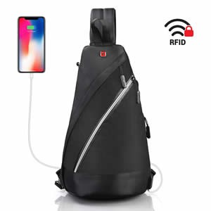 Sling Bag with RFID blocking Review
