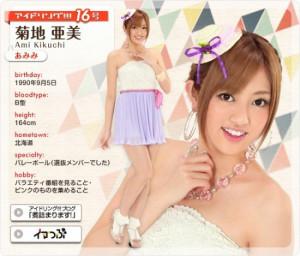 菊地亜美さんの女の子画像