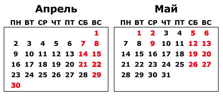 Майские праздники в 2018 году: как мы официально отдыхаем в мае