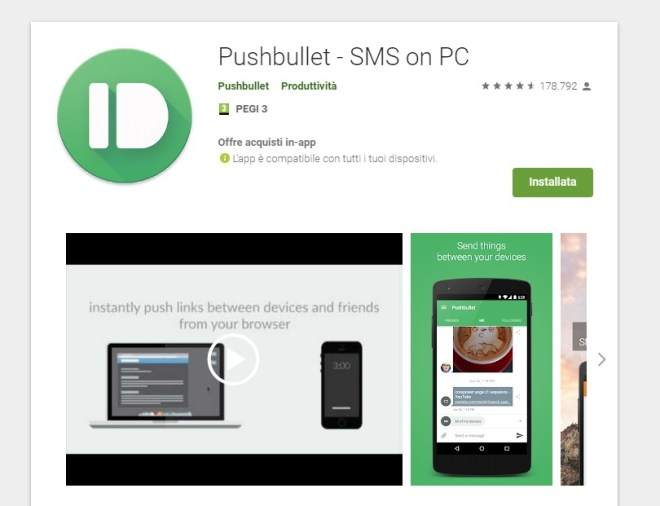 Trasferire file pushbullet