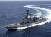 GULF OF MEXICO (June 23, 2010) The guided-missile destroyer Pre-Commissioning Unit (PCU) Gravely (DDG 107) conducts sea tials in the Gulf of Mexico. (U.S. Navy photo courtesy of Northop Grumman)