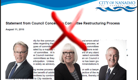 Province correct statement by Nanaimo Council