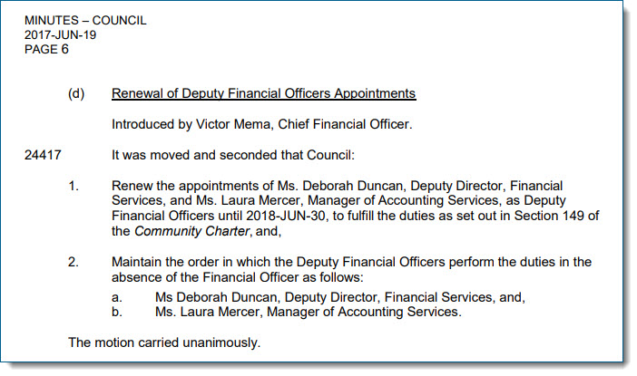 Laura Mercer Is Financial Officer After Mema Suspended