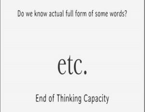 Full form of ETC