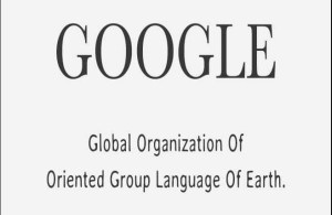 Full form of Google
